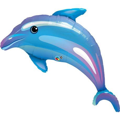 Balon Mini Figurina Delfin Bleu, Qualatex, 107 cm, 32938