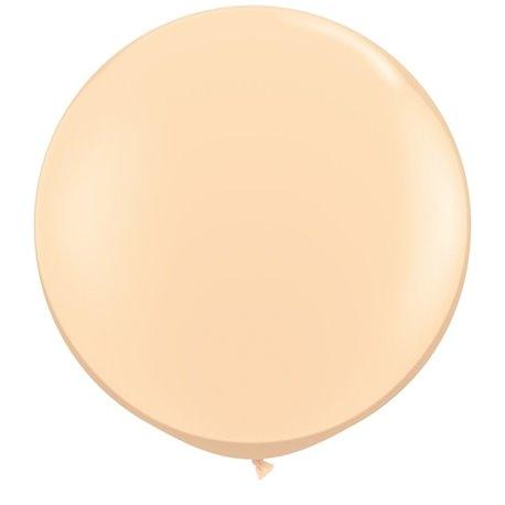 3' Jumbo Latex Balloons, Blush, Qualatex 82987, Pack of 2 pieces