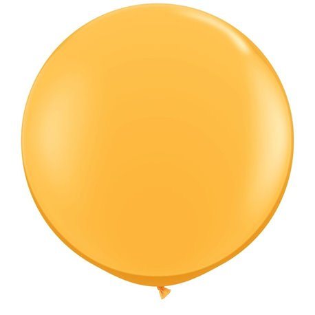3' Jumbo Latex Balloons, Goldenrod, Qualatex 43633, Pack of 2 pieces