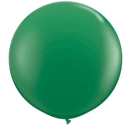 3' Jumbo Latex Balloons, Green, Qualatex 41997, Pack of 2 pieces