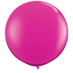 3' Jumbo Latex Balloons, Jewel Magenta, Qualatex 43492, Pack of 2 pieces