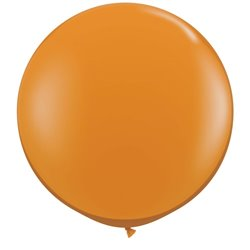 Baloane latex Jumbo 3' Mandarin Orange, Qualatex 43263, set 2 buc