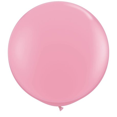 3' Jumbo Latex Balloons, Pink, Qualatex 42764, Pack of 2 pieces