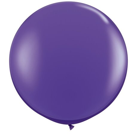 Baloane latex Jumbo 3' Purple Violet, Qualatex 82785, set 2 buc