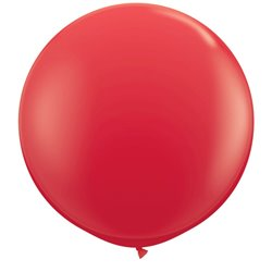 Baloane latex Jumbo 3' Red, Qualatex 42554, set 2 buc