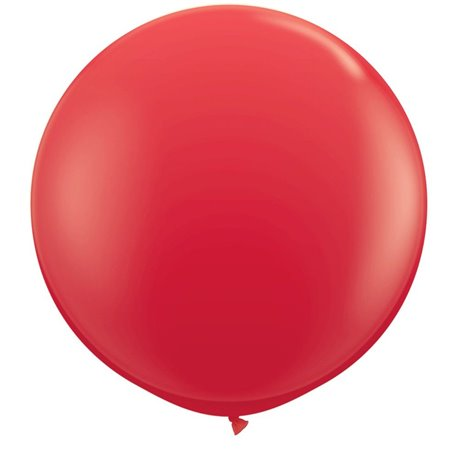 3' Jumbo Latex Balloons, Red, Qualatex 42554, Pack of 2 pieces