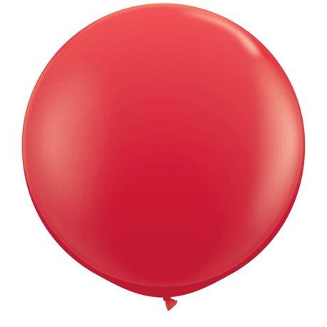 Baloane latex Jumbo 3' Red, Qualatex 42554, set 2 buc