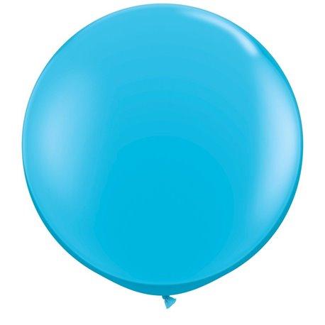 Baloane latex Jumbo 3' Robin's Egg Blue, Qualatex 82784, set 2 buc