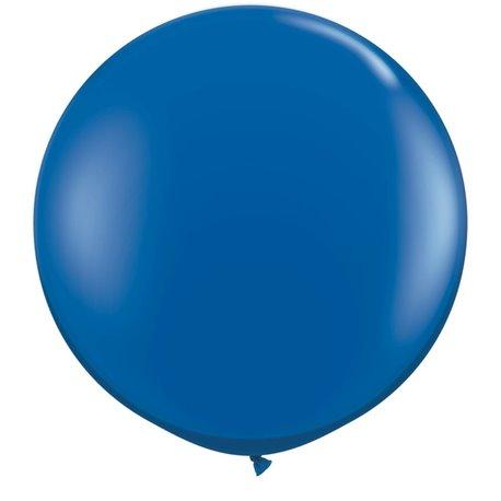 Baloane latex Jumbo 3' Sapphire Blue, Qualatex 42876, set 2 buc