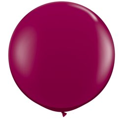 Baloane latex Jumbo 3' Sparkling Burgundy, Qualatex 43367, set 2 buc