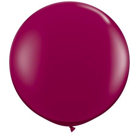 Baloane latex Jumbo 3' Sparkling Burgundy, Qualatex 43367, set 2 buc