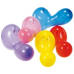 """Assorted Noses Figure Latex Balloons 24"""" (60 cm), Asortate, Riethmuller RM6484, Pack of 5 pieces"""