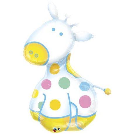 Soft Giraffe Foil Balloon, Qualatex, 32932