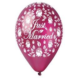 Set 5 baloane Just Married Gemar