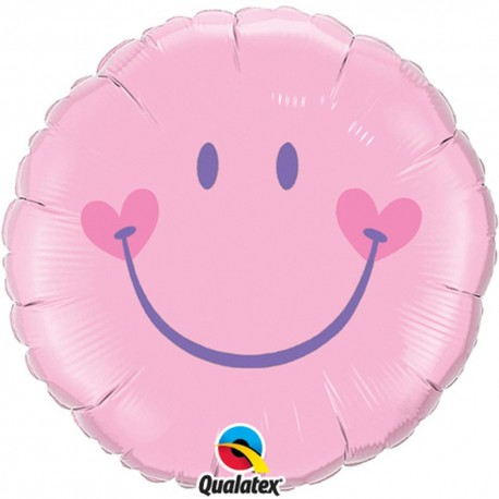Balon Folie Smiley Face Pink, 45 cm, 99573