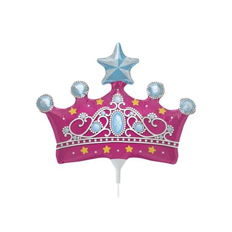 """Princess Crown Party Foil Balloon, Northstar Balloons, 14"""", 00815"""