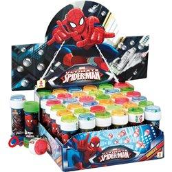 Spiderman 60ml Soap Bubbles Party Toy, Dulcop 513000, 1 piece
