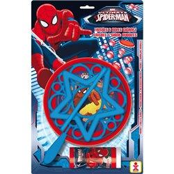 Joc Party Spiderman, Frisbee & Baloane de Sapun Gigant, Dulcop 059700, 1 buc