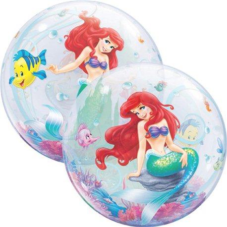Balon Bubble Licenta Mica Sirena, Qualatex, 56 cm, 60166