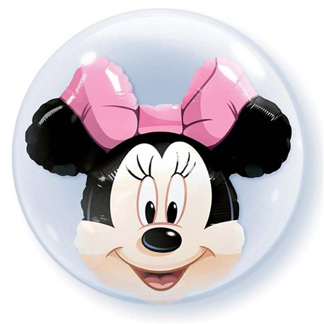 Balon Double Bubble Cap Minnie, Qualatex, 60 cm, 27568
