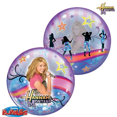 Balon Bubble Hannah Montana, Qualatex, 56 cm, 19024