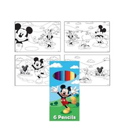 Set de Colorat Mickey Mouse, Amscan 994160, 1 buc