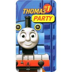 Invitatii de petrecere Thomas and Friends, Amscan RM552164, Set 6 buc
