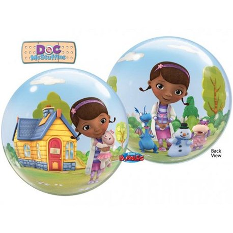 Balon Bubble Doc McStuffins (Doctorita Plusica), Qualatex, 56 cm, 66575
