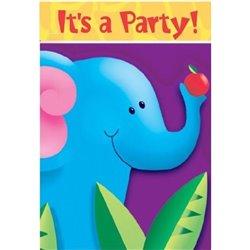 Invitatii de petrecere Jungle Party, Amscan RM495026, Set 6 buc