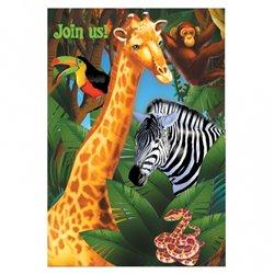 Invitatii de petrecere Safari Party, Amscan RM499765, Set 6 buc