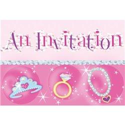 Invitatii de petrecere Princess, Amscan RM499754, Set 8 buc