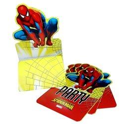 Invitatii de petrecere Spiderman, Amscan RM551583, Set 6 buc