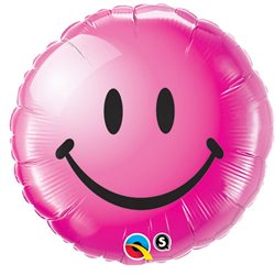Balon Folie Smiley Face Fuchsia, 45 cm, 29864
