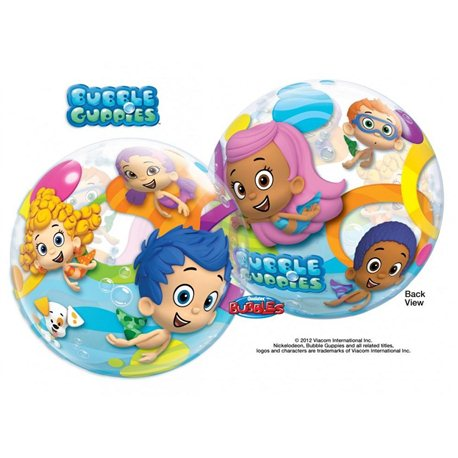 Balon Bubble Personajele Bubble Guppies, Qualatex, 56 cm, 65579