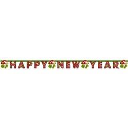 Banner decorativ pentru petrecere - 1.9 m, Happy New Year, Amscan 552037, 1 buc