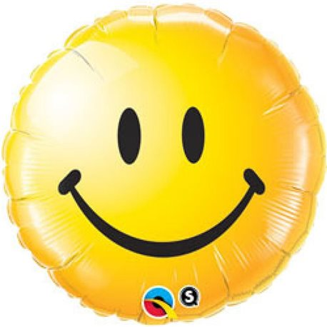 Smiley Face Yellow Foil Balloon, 45 cm, 29632