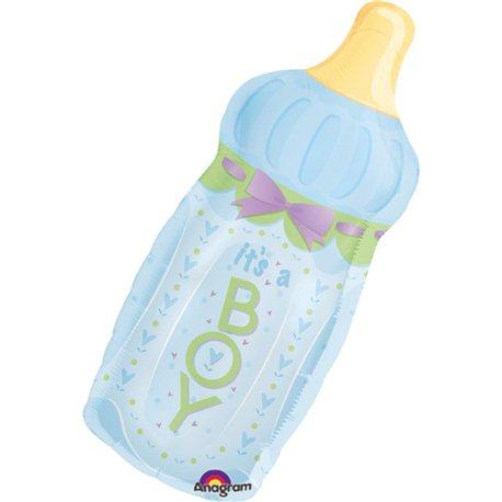 """Baby Shower Balloon - It's a Boy Baby Bottle, Anagram, 31"""", 14254"""