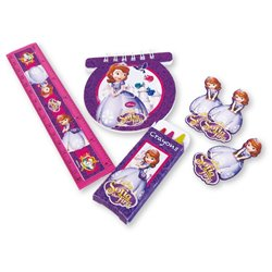 Disney Sofia the First Stationery Pack, Amscan 997170, Pack of 20 Pieces