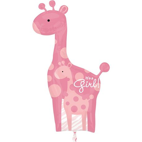 "Safari Baby Girl Giraffe - Baby Shower Balloon, Anagram, 25""x 42"", 25181"