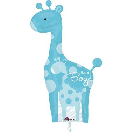 """Baby Shower Balloon-Blue Wild Safari It's a Boy, Anagram, 25"""" x 42"""", 24583"""