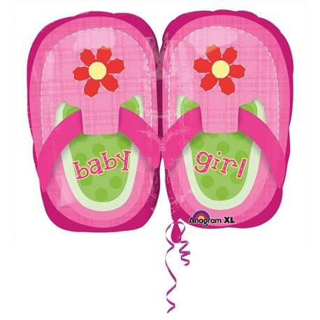 """Baby Girl Pretty Pink Shoes Mini Shape, Anagram, 9"""", 28815"""