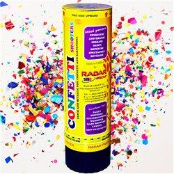 Tun confetti 16 cm cu serpentine folie multicolore, Radar TUN.8116