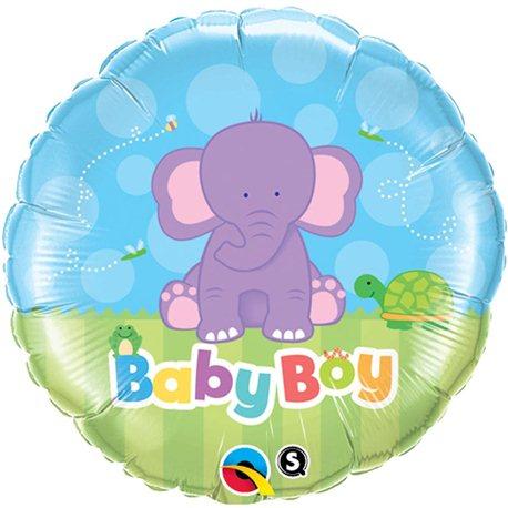 Balon Folie Baby Boy Elefantel, Qualatex, 45 cm, 13916