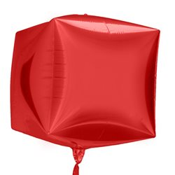 Cubez Red Cube Shaped Balloon, 45 cm,  01014