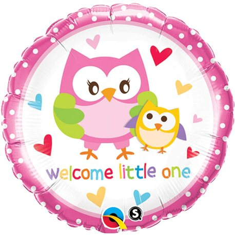 Balon Folie Welcome Little One Buftnita, Qualatex, 45 cm, 18436
