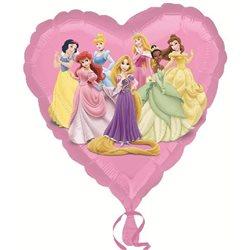 Balon Folie Inima Printese Disney, 45 cm, 22947ST