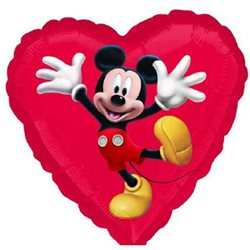 Mickey Mouse Heart Shape Balloon, 45 cm, 22945ST