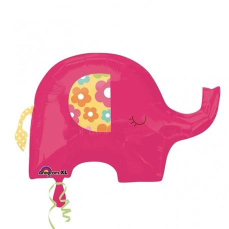 Pink Elephant SuperShape Foil Balloon, 24580
