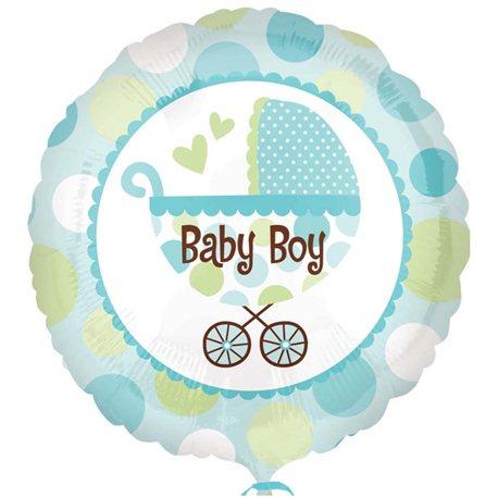 """Balon Folie Carucior """"Baby Boy"""", Anagram, 45 cm, 21992"""