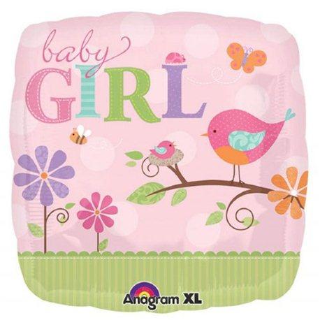 Balon Folie Patrata Baby Girl, Anagram, 45 cm, 25084